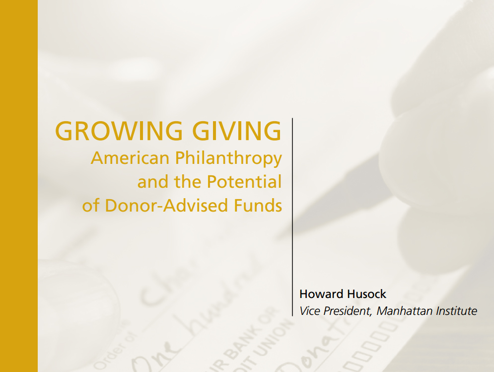 New research into donor-advised funds speaks to their benefits