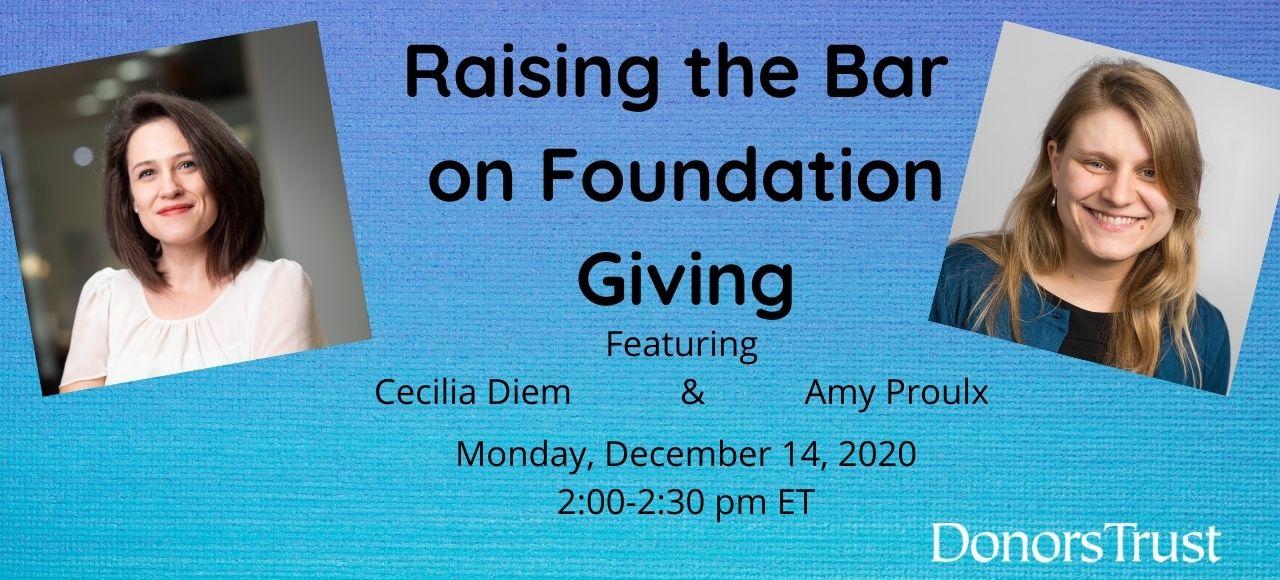 Raising the Bar on Foundation Giving (1)